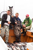 Dory fishermen in Pacific City, OR