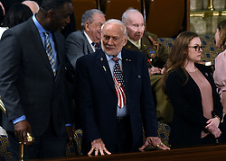 Apollo 11 astronaut Buzz Aldrin attends the State of the Union address to a joint session of the U.S. Congress on Capitol Hill February 5, 2019 in Washington, DC. DC.Photo by Olivier Douliery/ABACAPRESS.COM