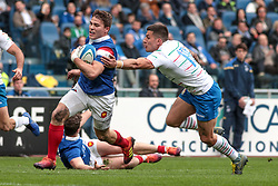 March 16, 2019 - Rome, Rome, Italy - Antoine Dupont and Tommaso Allan during the Guinness Six Nations match between Italy and France at Stadio Olimpico on March 16, 2019 in Rome, Italy. (Credit Image: © Emmanuele Ciancaglini/NurPhoto via ZUMA Press)
