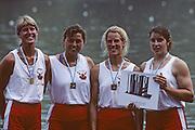 Lucerne, SWITZERLAND CAN W4-. 1992 FISA World Cup Regatta, Lucerne. Lake Rotsee.  [Mandatory Credit: Peter Spurrier: Intersport Images] 1992 Lucerne International Regatta and World Cup, Switzerland