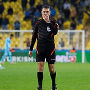 Referee's Bulent Yildirim during their Turkish superleague soccer match Fenerbahce between Mersin Idmanyurdu at the Sukru Saracaoglu stadium in Istanbul Turkey on Saturday 27 December 2014. Photo by Aykut AKICI/TURKPIX