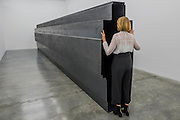 Passage 2016 - Antony Gormley, Fit, a new exhibition of work in the South Galleries of White Cube Bermondsey. The piece is divided into 15 discrete chambers to create a series of dramatic physiological encounters in the form of a labyrinth.