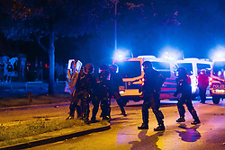 July 7, 2017 - Hamburg, Germany - Police along the route of the protesters. // Polizei in der Altonaer Strasse.Credit: MilesMeyer/face to face (Credit Image: © face to face via ZUMA Press)