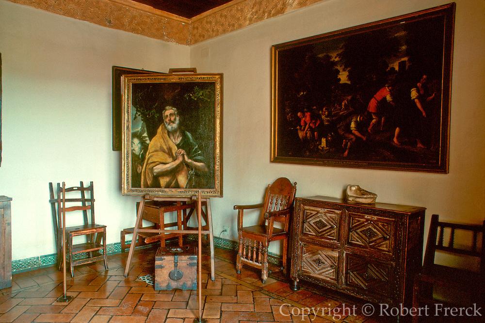 SPAIN, LA MANCHA, TOLEDO Casa y Museo de El Greco; studio