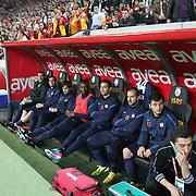 IBBSpor's players during their Turkish Super League soccer match Galatasaray between IBBSpor at the AliSamiyen Spor Kompleksi TT Arena at Seyrantepe in Istanbul Turkey on Saturday, 30 March 2013. Photo by Aykut AKICI/TURKPIX