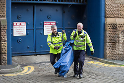 © Licensed to London News Pictures . 20/09/2015 . Manchester , UK . Police forensic tent being carried on Brazil Street , central Manchester , where Greater Manchester Police are responding to a report that two girls , aged 15 and 17 years old respectively , have been raped . The incident is alleged to have taken place yesterday afternoon (19th September 2015) . Photo credit : Joel Goodman/LNP