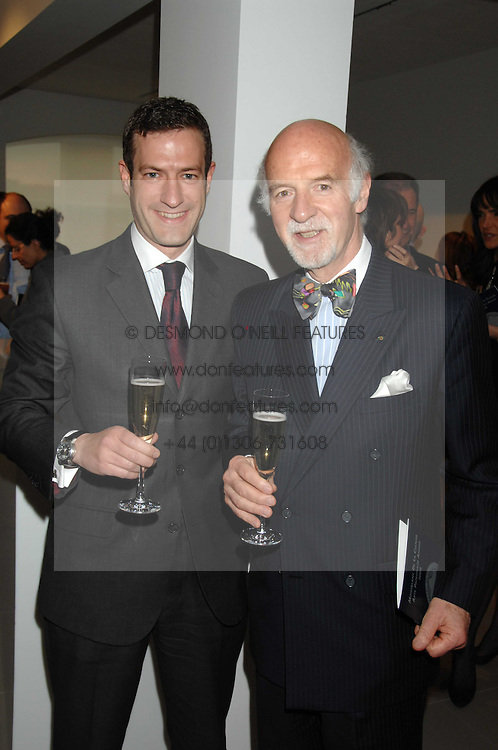 Left to right, PHILIPP MOSIMANN and his father chef ANTON MOSIMANN at the Montblanc de la Culture Arts Patronage Award 2008 presented to Louise Blouin MacBain at the Louise Blouin MacBain Institute, 3 Olaf Street, London W11 on 16th April 2008.<br />
