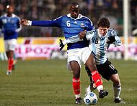 Fotball<br /> Frankrike v Argentina<br /> Foto: DPPI/Digitalsport<br /> NORWAY ONLY<br /> <br /> FOOTBALL - FRIENDLY GAMES 2008/2009 - FRANCE v ARGENTINA - 11/02/2009 - LASSANA DIARRA (FRA) / LIONEL MESSI (ARG)