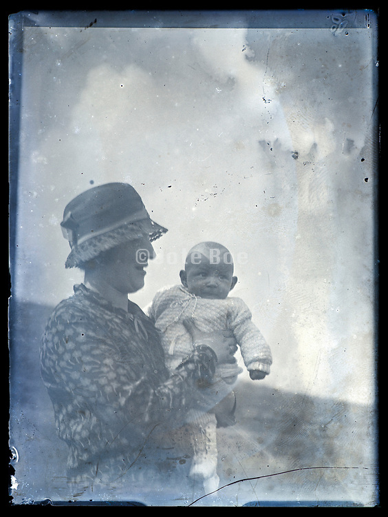 mother with little toddler France ca 1920s