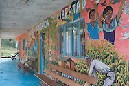 The murales on the junta de buen gobierno wall.<br /> El mural en la pared de la junta de buen gobierno.