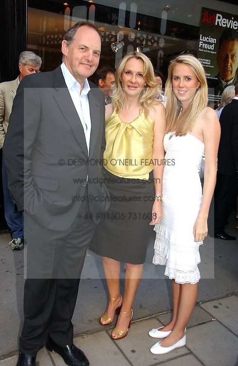 Left to right, the EARL OF DARTMOUTH, LADY BELL and her daughter the HON.DAISY BELL at an exhibition of photographs by David Montgomery entitled 'Shutterbug' held at Scream, 34 Bruton Street, London W1 on 13th July 2006.<br /><br />NON EXCLUSIVE - WORLD RIGHTS