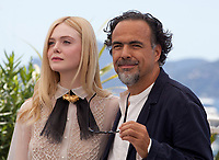 Jury member and Actress Elle Fanning and President of the Jury, Director Alejandro Gonzalez Iñárritu<br />  at the Jury photo call at the 72nd Cannes Film Festival, Tuesday 14th May 2019, Cannes, France. Photo credit: Doreen Kennedy