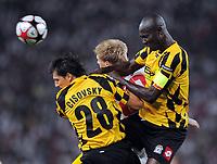 v.l. Marian Cisoskv , Pavel Pogrebnyak VfB , Dare Nibombe<br /> UEFA Champions League Play-Off Rueckspiel VfB Stuttgart - FC Timisoara<br /> <br /> Norway only
