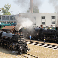 Steam Engine Race held in the Railway Museum in Budapest, Hungary on Sept. 8, 2018. ATTILA VOLGYI