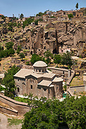 """Pictures & images of Guzelyurt Chuch Mosque, formely St Gregorius church,  9th century, the Vadisi Monastery Valley, """"Manastır Vadisi"""",  of the Ihlara Valley, Guzelyurt , Aksaray Province, Turkey. .<br /> <br /> If you prefer to buy from our ALAMY PHOTO LIBRARY  Collection visit : https://www.alamy.com/portfolio/paul-williams-funkystock/vadisi-monastery-valley-turkey.html<br /> <br /> Visit our TURKEY PHOTO COLLECTIONS for more photos to download or buy as wall art prints https://funkystock.photoshelter.com/gallery-collection/3f-Pictures-of-Turkey-Turkey-Photos-Images-Fotos/C0000U.hJWkZxAbg"""