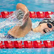TOKYO, JAPAN - JULY 28: Katie Ledecky of the United States winning gold in the 1500m final for women during the Swimming Finals at the Tokyo Aquatic Centre at the Tokyo 2020 Summer Olympic Games on July 28, 2021 in Tokyo, Japan. (Photo by Tim Clayton/Corbis via Getty Images)