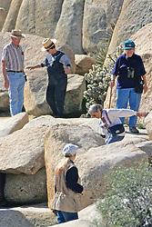 Tourists In Joshua Tree