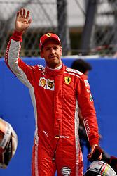 September 1, 2018 - Monza, Italie - Sebastian Vettel, Ferrari celebrates in parc ferme at Formula One World Championship, Rd14, Italian Grand Prix, Qualifying, Monza, Italy, Saturday 1 September 2018. (Credit Image: © Panoramic via ZUMA Press)