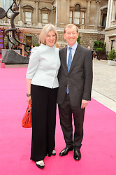 The Home Secretary THERESA MAY MP and her husband PHILIP MAY at the Royal Academy of Arts Summer Party held at Burlington House, Piccadilly, London on 9th June 2010.