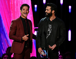 LOS ANGELES - AUGUST 13: Tyler Posey and Tyler Hoechlin onstage at FOX's 'Teen Choice 2017' at the Galen Center on August 13, 2017 in Los Angeles, California. (Photo by Frank Micelotta/FOX/PictureGroup) *** Please Use Credit from Credit Field ***