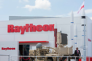 The Raytheon exhibit at the Farnborough Airshow, on 16th July 2018, in Farnborough, England. (Photo by Richard Baker / In Pictures via Getty Images)