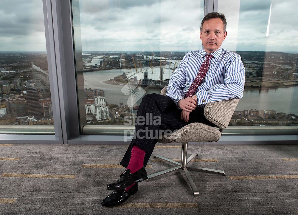 Anthony Jenkins, group chief executive of Barclays Bank pictured at their offices at 1 Churchill Place, Canary Wharf, London.<br /> Picture by Daniel Hambury/Stella Pictures Ltd +44 7813 022858<br /> 16/06/2014