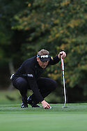 Simon Wakefield (ENG) on the 14th green during Round 3 of the Volopa Irish Challenge in Tullow, Co. Carlow on Saturday 10th October 2015.<br /> Picture:  Thos Caffrey / www.golffile.ie