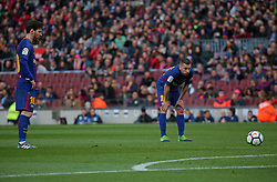 March 18, 2018 - Barcelona, Spain - Leo Messi and Jordi Alba during the match between FC Barcelona and Athletic Club, played at the Camp Nou Stadium on 18th March 2018 in Barcelona, Spain. (Credit Image: © Joan Valls/NurPhoto via ZUMA Press)