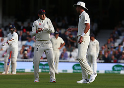 September 10, 2018 - London, England, United Kingdom - England's Joe Root (Right).during International Specsavers Test Series 5th Test match Day Four  between England and India at Kia Oval  Ground, London, England on 10 Sept 2018. (Credit Image: © Action Foto Sport/NurPhoto/ZUMA Press)