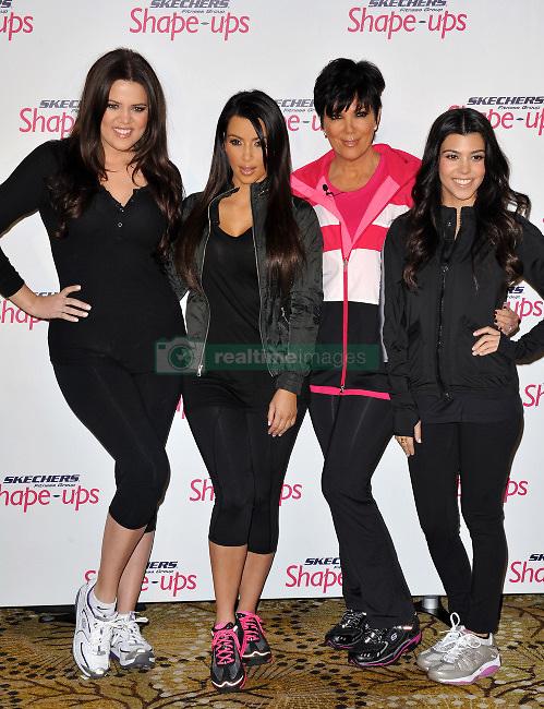 Khloe Kardashian, Kim Kardashian, Kris Jenner and Kourtney Kardashian attend the Skechers press conference to announce their partnership with Kim Kardashian and Kris Jenner. Los Angeles, November 22, 2010. Photo by Lionel Hahn/ABACAPRESS.COM  | 252524_019 Los Angeles
