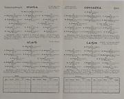Interprovincial Railway Cup Football Cup Final, 17.03.1945, 03.17.1945, 17th March 1945,  Connacht 0-06, Leinster 2-05, Connacht Football Team, T Byrne, W Jackson, T Dunleavy, C Connolly, B Lynch, W Carlos, T O'Sullivan, E Boland, C McDwyer, M Whelan, J Murray, D Keenan, P Murray, J McQuillan, T Hoban, W McAllinden, J Lavin, J Munnelly, J P O'Callaghan, J Casserly, E Hoar, Leinster Football Team, P Larkin, J Boyle, E Boyle, P McIntryre, P Whelan, P O'Reilly, M Geraghty, J Morris, J Hanniffy, F Byrne, W Delaney, D O'Neill, P Meegan, C Delaney, J Rea, T Murphy, A Donnelly, P O'Farrell, P McDermott, J Kelly, P Kehoe, .Interprovincial Railway Cup Hurling Cup Final, 17.03.1945, 03.17.1945, 17th March 1945,  Ulster 2-00, Munster 6-08, Munster Hurling Team, J Ware, A Flemming, W Murphy, P Cregan, P O'Donovan, J Power, J Young, P McCarthy, C Cotterill, T Purcell, C Ring, R Stokes, M Mackey, J Quirke, P Quaine, T Doyle, M Hickey, J Clohessy, P Lyons, J Ryan, D Malone, Ulster Hurling Team, M McKeown, W Feeney, J Butler, E. O'Toole, P McKeown, J Mullen, M Butler, O Keenan, N Campbell, P Murphy, K Armstrong, L McCeady, J White, C Mullin, J Mulholland, P Cullen, D Cormichan, P MacFaul, R Mullen, B Denver,