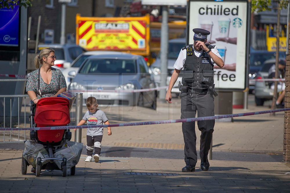 "©️ Licensed to London News Pictures. 14/09/2020. Dagenham, UK. Police remain at the crime scene in Dagenham, east London. Police were called to a car park in Whalebone Lane South at 23:43hrs on Sunday, 13 September, to reports of a collision between a car and a pedestrian. Officers attended along with paramedics from London Ambulance Service. A 47-year-old man was found seriously injured and died at the scene a short time later. Enquiries to locate his next of kin are ongoing. A post-mortem examination will be carried out in due course.  At this early stage, homicide detectives from the Met's Specialist Crime Command believe the man was hit by a car, which left the scene. Detective Chief Inspector Mark Wrigley said: ""We believe the victim was deliberately harmed and we are treating this incident as a murder inquiry. Photo credit: Marcin Nowak/LNP"