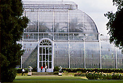 Palm House in Kew Gardens, London, United Kingdom.