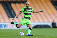 Forest Green Rovers Farrend Rawson(6) during the EFL Sky Bet League 2 match between Port Vale and Forest Green Rovers at Vale Park, Burslem, England on 23 March 2019.