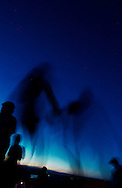 George, Washington.Photo Randy Vanderveen.Dancers in silhouette at a night concert at the Gorge Ampitheatre in George, Washington.