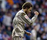 Fotball<br /> FA-cup 2005<br /> Reading v Leicester<br /> 29. januar 2005<br /> Foto: Digitalsport<br /> NORWAY ONLY<br /> Gareth Williams is pleased with his goal