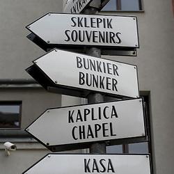 Warsaw, Poland - May, 2009 -A sign at the Warsaw Rising Museum. .Photo © Susana Raab 2009