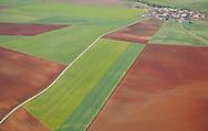 Aerial image.farm land Salamanca Region, Castilla y León, Spain