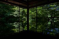 Japon, île de Honshu, région de Kansaï, Kyoto, jardin Ruriko-in // Japan, Honshu island, Kansai region, Kyoto, Ruriko-in garden and temple