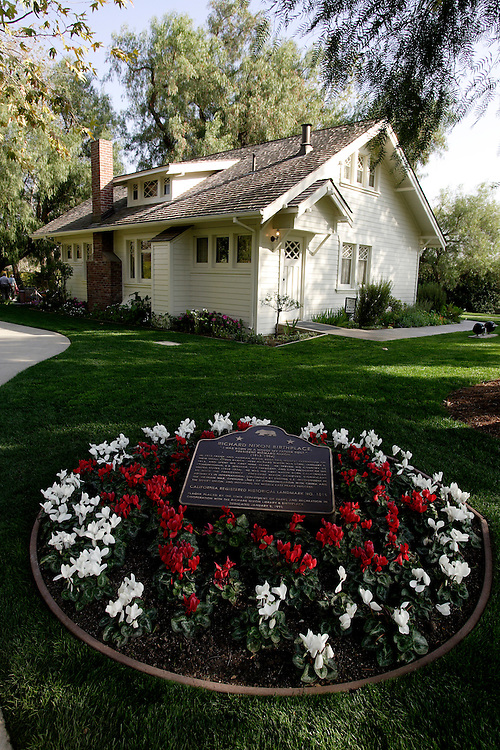 YORBA LINDA, CA, FEBRUARY 21, 2007: The Richard Nixon Library and Birthplace in Yorba Linda, California. This is the actual house that Nixon was born in. The house was built by his father. (Photograph by Todd Bigelow/Aurora)
