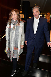 CHARLES SAATCHI and TRINNY WOODALL at the Launch Of Alain Ducasse's Rivea Restaurant At The Bulgari Hotel, 171 Knightsbridge, London on 8th May 2014.
