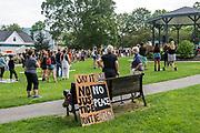 Bar Harbor, Maine. July 19, 2020. MDI Racial Justice Coalition rally.