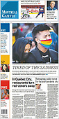 March 22, 2021 (CANADA): Front-page: Today's Newspapers In Canada
