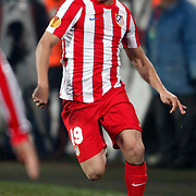 Atletico Madrid's Koke during their UEFA Europa League Round of 16, Second leg soccer match Besiktas between Atletico Madrid at Inonu stadium in Istanbul Turkey on Thursday March 15, 2012. Photo by TURKPIX