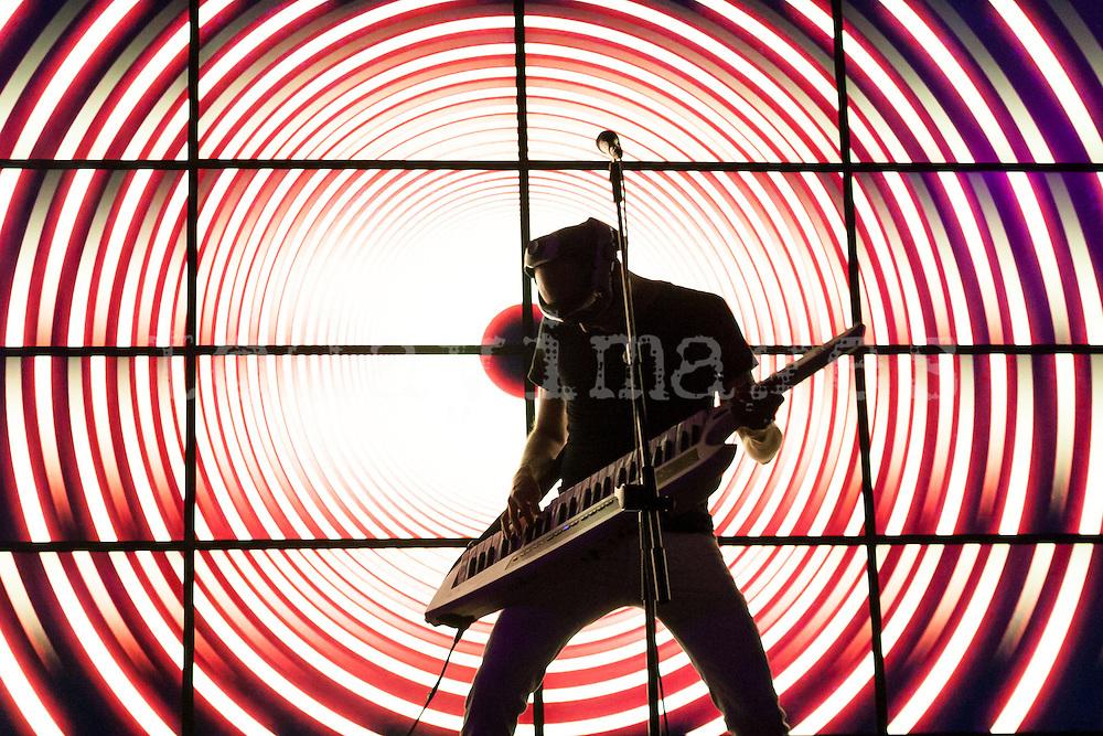 Guille Milkyway (La Casa Azul) performing at the Ocho y medio Club in Madrid- 2012