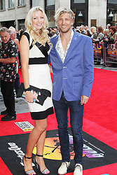 © Licensed to London News Pictures. 01/07/2013. London, UK. Rachel Gretton and Rick Parfitt Jnr, at the Bula Quo UK film premiere, Odeon West End cinema Leicester Square, London. Photo credit: Richard Goldschmidt/LNP