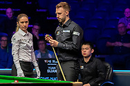 Day 3 of the 19.com World Snooker Home Nations Scottish Open. Action from the afternoon session Judd Trump Vs Yuan Sijun during the World Snooker Scottish Open at the Emirates Arena, Glasgow, Scotland on 11 December 2019.