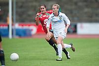 Fotball<br /> 22. August 2015<br /> Toppserien<br /> Arna Stadion<br /> Arna Bjørnar - Røa<br /> Lauren Ashley Bohaboy (L) , Arna BJørnar<br /> Megan Lindsay (R) , Røa<br /> Foto: Astrid M. Nordhaug