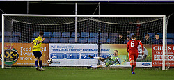 RHYL, WALES - Wednesday, November 14, 2018: Scotland's' Billy Gilmour scores his sides second goal from the penalty spot during the UEFA Under-19 Championship 2019 Qualifying Group 4 match between Wales and Scotland at Belle Vue. (Pic by Paul Greenwood/Propaganda)