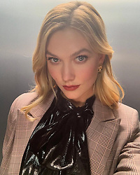 """Karlie Kloss releases a photo on Instagram with the following caption: """"Does this face say \u201chappy holidays\u201d or \u201chow many days until the holidays\u201d \u2744\ufe0f"""". Photo Credit: Instagram *** No USA Distribution *** For Editorial Use Only *** Not to be Published in Books or Photo Books ***  Please note: Fees charged by the agency are for the agency's services only, and do not, nor are they intended to, convey to the user any ownership of Copyright or License in the material. The agency does not claim any ownership including but not limited to Copyright or License in the attached material. By publishing this material you expressly agree to indemnify and to hold the agency and its directors, shareholders and employees harmless from any loss, claims, damages, demands, expenses (including legal fees), or any causes of action or allegation against the agency arising out of or connected in any way with publication of the material."""
